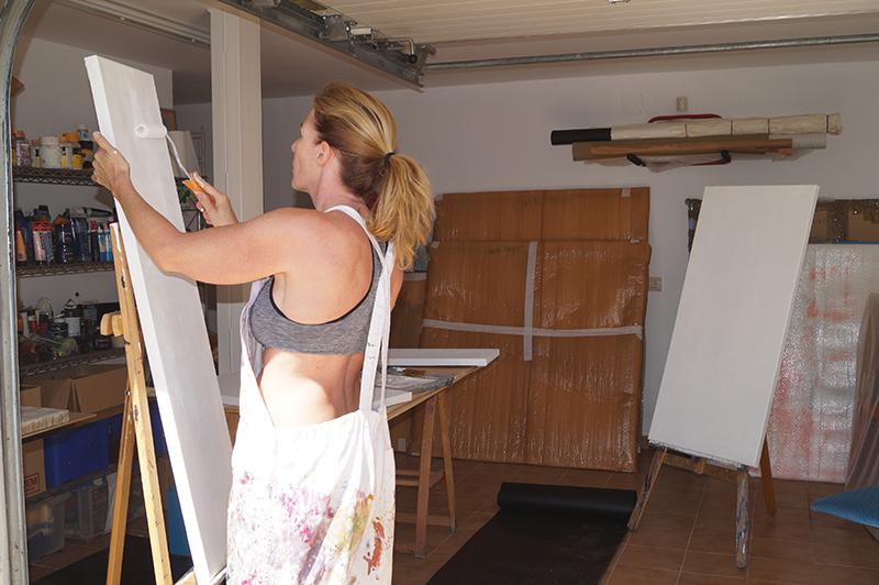 Helena en su nuevo estudio
